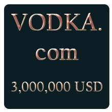 VODKA.com domain name sold for 3 million USD