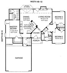 653711 One Story 3 Bedroom 2 Bath French Traditional