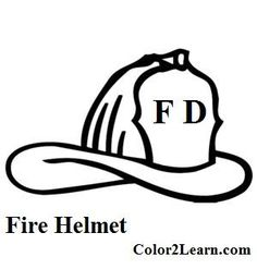 Fire Hat Coloring Page Sketch Coloring Page Fireman Quilt, Fireman Hat, Fireman Room, Firefighter Images, Firefighter Clipart, Firefighter Decor, Coloring Book Art, Coloring Pages To Print, Fire Truck Drawing