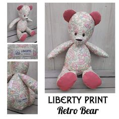 Bespoke Retro Bear made from a vintage Liberty floral skirt
