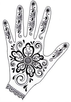 Henna Hands--great success and website shows traditional designs for fingers, wrist, etc    I had my students trace both of their hands and also their arms.  They painted the paper background around their hands black.  Also great intro to Indian art.