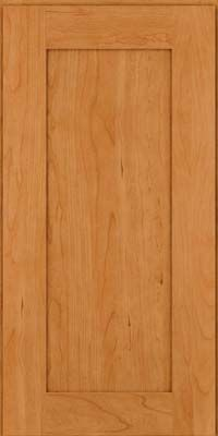 Door Detail - Square Recessed Panel - Solid (DRHC) Cherry in Cinnamon - KraftMaid Cabinetry