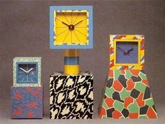 Sowden table clocks Acapulco, Excelsior, and American memphis design Memphis Design, Decoration, Art Decor, Memphis Furniture, Peter Shire, Nathalie Du Pasquier, Memphis Milano, Memphis Art, Design Movements