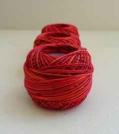 coton yarn 3 balls fine crochet 8 number100 by yarnsupplies, $10.50