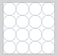 On an x artboard, how do I evenly place 8 circles to make a circular grid? They should be overlapping by 1 pt. Grid Layouts