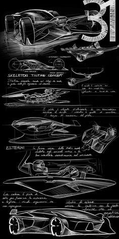 Zeichentische für das neue ED Design Center in Turin - Concept Cars Ed Design, Car Design Sketch, Car Sketch, Ranger Car, Design Autos, Graffiti Pictures, Turin, Industrial Design Sketch, Mechanical Design