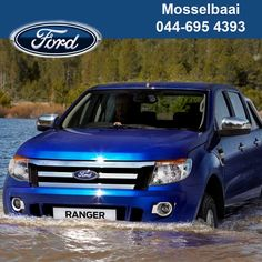 The new Ford Ranger's critical engine components have been repositioned high in the engine bay. It easily navigates the soft riverbed at the deepest point of the river. #fordcars #auto #4x4