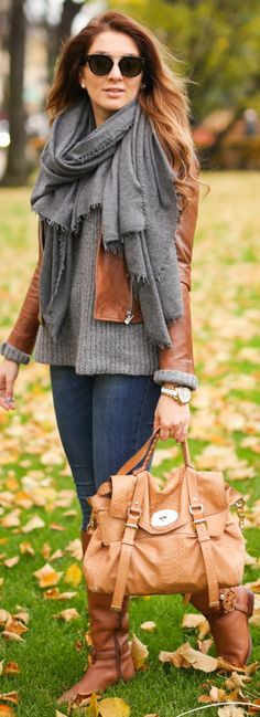 Fashion Trends Daily- 34 Great Fall - Winter Outfits On The Street 2016 Outfits 2016, Fall Outfits, Cute Outfits, Cozy Fashion, Brown Fashion, Cozy Winter Outfits, Brown Outfit, Moda Boho, Winter Mode