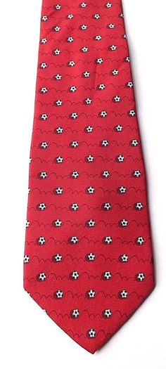 SILK Tie Rack Football Novelty Neck Tie Red with Football Design FREE P&P #TieRack #Tie