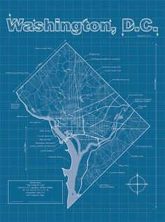 New york city blueprint map by christopher estes nyc ny washington dc artistic blueprint map art print by christopher estes at art malvernweather Image collections