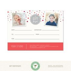 5x7 digital or print gift certificate template gc1