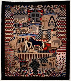 A patchwork bedcover (1842-52) by James Williams of Wrexham. Photograph: St Fagans: Nation/PA