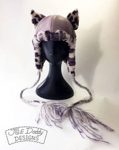 Ms. Galore  Hand Made One of a Kind Lavender Leather and