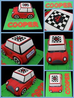 Love this, my son is Cooper and we were just talking about a mini Cooper S cake