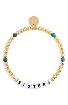 Making Bracelets With Beads, Bracelet Making, Jewelry Making, Word Bracelets, Diy Bracelet, Friendship Bracelets, Sister Bracelet, Sister Jewelry, Gold And Silver Rings