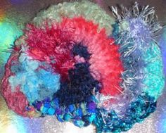 pink and blue scrumbles