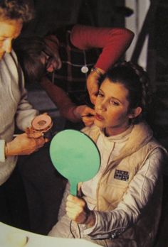 It's a little known fact Princes Leia enjoyed playing ping-pong between takes.