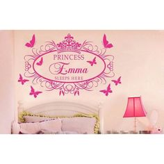 Personalized Princess Name Wall Decal
