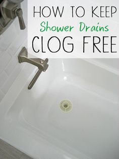 Easy and eco-friendly ways to keep shower drains from clogging. Full post with lots of tips!