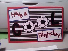 Soccer card for grandson Eli Birthday Cards For Boys, Masculine Birthday Cards, Bday Cards, Masculine Cards, Happy Birthday, Soccer Cards, Cute Cards, Men's Cards, Fathers Day Cards