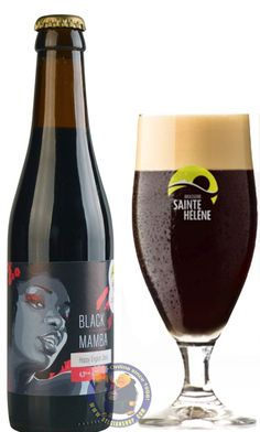 Our New Beer: Sainte Hélène Black Mamba 4.3° Available at http://store.belgianshop.com/special-beers/2136-sainte-helene-black-mamba-43-13l.html English style stout, hopped with Citra and Simcoe. Called Citra Stout before it got the definitive name. Very dark brown beer, small creamy beige head, stable, pretty adhesive. Has a dark roast aroma with some burnt sugar and definite citrus poking through. Nice flavor if slightly thin. Lightly sweet with some roast, light plastic, burnt cocoa, and…