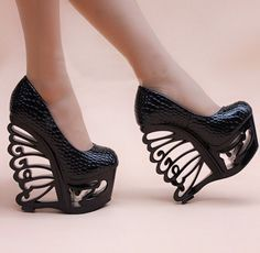 Sexy Butterfly Wing High Heels
