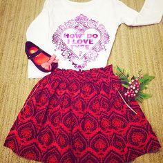 Peek 'Gina' Print Cotton Skirt (Toddler Girls, Little Girls & Big Girls) | Nordstrom