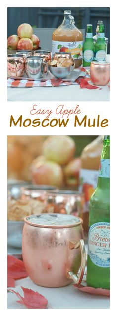 Easy Apple Moscow Mule Drink at Reluctant Entertainer
