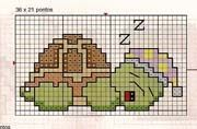 I don& cross-stitch really, but this might make a good colourwork chart. Cross Stitch For Kids, Mini Cross Stitch, Cross Stitch Cards, Cross Stitch Animals, Cross Stitching, Cross Stitch Embroidery, Cross Stitch Designs, Cross Stitch Patterns, Beading Patterns