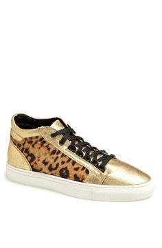 Love! Gold and Cheetah sneakers.