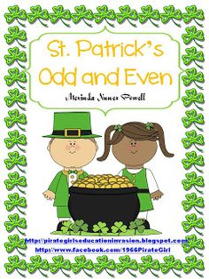 Here's a St. Patrick's day themed odd and even sorting activity.