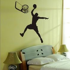 [ Do it ] HOT Basketball Dunk Wall sticker large Bedroom Decorative waterproof Sport Wall decal 100*77 CM Free shipping