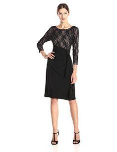 Kasper Women's Jersey Lace High Waisted Dress, Black, 6 Kasper http://smile.amazon.com/dp/B00MVN7FDO/ref=cm_sw_r_pi_dp_DHVhvb0QKN0FY