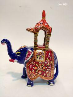 Metal Meenakari Painted Elephant (Ambabri) Maharaja Elephant contect & Whatsapp no. +917014735748 Email :- fazilhussain0000@gmail.com Elephant, Christmas Ornaments, Holiday Decor, Metal, Painting, Home Decor, Homemade Home Decor, Christmas Jewelry, Paintings