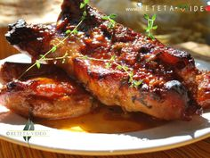 Interesting recipe that I would like to try.I still have some ribs in my freezer and must cook them this weekend. Later edit: these taste amazing! Will be doing this recipe again maybe next week! Hungarian Recipes, Italian Recipes, Romanian Recipes, Romanian Food, Best Steak, Pastry Cake, Recipe Boards, Tandoori Chicken, Soul Food