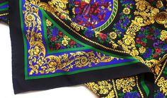 Vintage baroque silk scarf