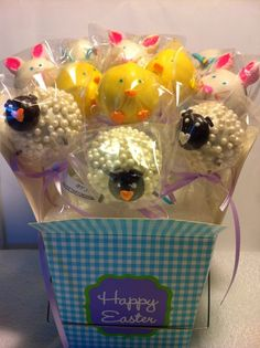 Easter Cake Pops- lol this is weird searching for cake pops on Pinterest and seeing your own cake pops! =) www.facebook.com/theSWEETARY