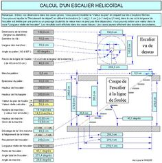 Calcul d'un escalier en colimacon Spiral Staircase Plan, Spiral Stairs Design, Building Stairs, Attic House, Civil Engineering, Stairways, Modern Architecture, Floor Plans, How To Plan