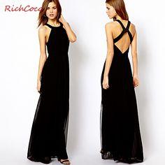 >> Click to Buy << 2015 Fashion women Bohemian backless maxi floor-length dress chiffon sleeveless halterneck long chiffon dress for woman richc #Affiliate