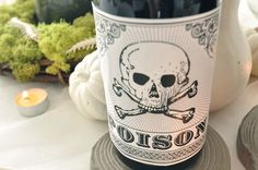 buy it or DIY it: spooky wine bottle labels
