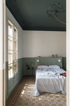 Photo 11 of 18 in A Fire-Ravaged Apartment in Barcelona Rises Again With Bold Color and Historic Charm - Dwell