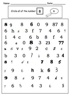 Math Activities for Children with Autism Multiple Exemplar Number Identification - ensure numbers are mastered and fluent by Multiple Exemplar Number Identification - ensure numbers are mastered and fluent by Primary Activities, Preschool Curriculum, Teaching Math, Activities For Kids, Visual Perceptual Activities, Visual Motor Activities, Number Identification, Transitional Kindergarten, Pediatric Occupational Therapy