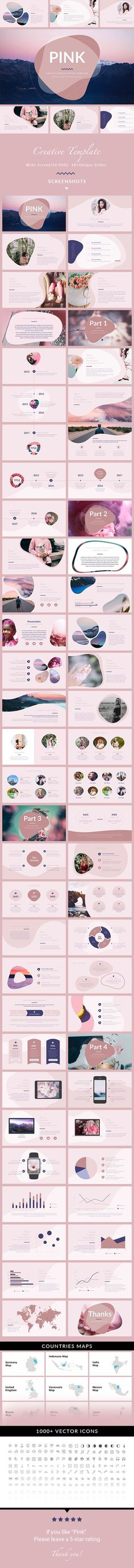Pink  Minimal & Creative Keynote Template — Keynote KEY #1920x1080 #modern • Download ➝ https://graphicriver.net/item/pink-minimal-creative-keynote-template/20321940?ref=pxcr
