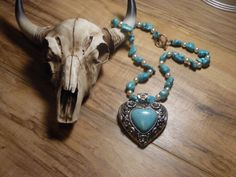 Gypsy Cowgirl Chic Turquoise Pearl Heart by gypsycowgirlchic  save 25% use code 25off at checkout!