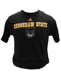 e56a2c7fdd7 Black Owls tee featuring new Owl Face logo. Kennesaw State University  Bookstore · KSU Adidas Gear