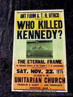 Rare ANT FARM Who Killed Kennedy 1975  by SherwoodsTreasures