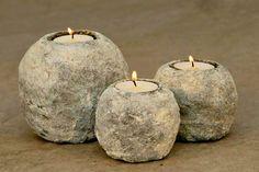 Εύκολα κηροπήγια με εφέ πέτρας