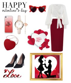"""Valentine's day❤️❤️"" by mariatibirna on Polyvore featuring FOSSIL, Roland Mouret, Zimmermann and Lovestruck"