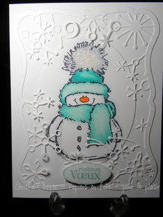 Penny Black - Snowy Christmas Cards 2018, Stamped Christmas Cards, Homemade Christmas Cards, Xmas Cards, Handmade Christmas, Homemade Cards, Holiday Cards, Christmas Snowman, Simple Christmas