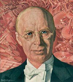 Sergei Prokofiev 1945 TIME cover art by Ernest Hamlin Baker